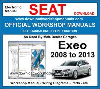 Seat exeo Service Repair Workshop Manual Download